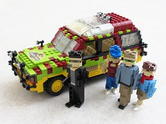 Jurassic Park Ford Explorer (1) (Mad physicist) Tags: park ford film car movie lego explorer jurassic jurassicpark