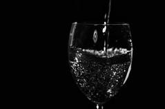 Dark water (Rikke Svenstad) Tags: white black water norway drops waterdrops bnw