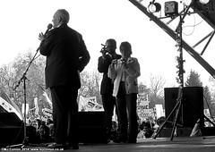 Tony Benn, Stop the War Coalition Demonstration, Hyde Park, London, 2003 (MJ_Conlon) Tags: 2003 park london war stage iraq tony demonstration hyde stop mp coalition speech benn