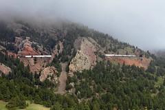 Threading Tunnel 3 (Moffat Road) Tags: railroad fog train colorado amtrak co rockymountains ge frontrange plain flatirons plainview passengertrain californiazephyr liftingfog p42dc upsmoffattunnelsubdivision trainno5tunnel3