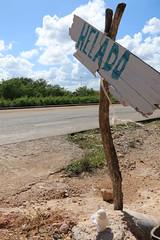 Helado / Ice cream (Hesanz photography.) Tags: road blue sky luz sol sign azul mxico clouds canon eos day carretera yucatn cielo icecream nubes letrero da helado mrida 70d