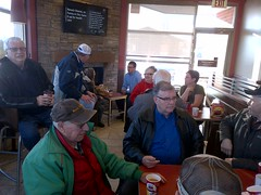 Monte hosts a community coffee shop meeting