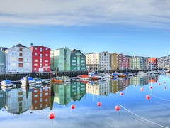 Trondheim Reflections (GillWilson) Tags: norway reflections trondheim hurtigruten