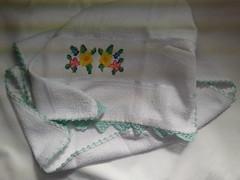 Pano de Prato Bordado Ponto Cruz - Flores B002 (SaluArts) Tags: flores de pano artesanato cruz ponto prato copa bordado