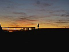 Alone... (jehrings) Tags: sunset color silhouette landscape geotagged person persona tramonto alone paesaggio contemplation solitudine seiseralm contemplazione alpedisiusi