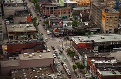 Queen-Spadina (Jack Landau) Tags: city urban toronto architecture buildings downtown view victorian aerial queen transit spadina streetcar