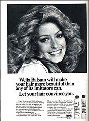 Wella Balsam Shampoo & Conditioner Ad (farrahcollector) Tags: show beauty vintage hair print blackwhite tv ad shampoo angels 1975 70s 1970s balsam conditioner farrah fawcett charlies wella