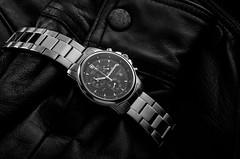 Swiss Military - Hanowa Watch (Keif.Ro) Tags: lighting blackandwhite bw men monochrome fashion studio design swiss military watch jewelry monochromatic acessory hanowa
