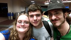 LKZ PHX Airport (L Westy) Tags: friends airport selfie skyharbor firstmeeting