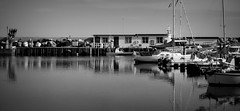 Harbour. Ystad, Sweden. (SkipperWP) Tags: sea bw seascape monochrome sailboat marina boat skne sweden harbour balticsea sverige ystad wallander kurtwallander