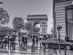 Rainy Paris, full of life!!! (mmalinov116) Tags: paris france capital city arc triomphe champsélysées arcdetriomphe place charlesdegaulle famous monument old beautiful rainy rain avenue париж франция дъжд boulevard road