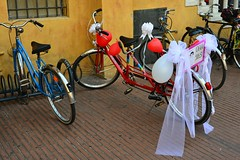 A ride for two (mikael_on_flickr) Tags: ridefortwo ferrara sposati married marriage matrimonio bike bicicletta tandem love amore together insieme