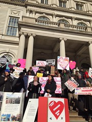 CHARAS Valentine's Day Rally & Press Conference (morusnyc) Tags: activism rally nyc communitycenter reclaimedurbanspace pressconference deblasio charas elbohio ps64 loisaida community signs lowereastside eastvillage alphabetcity