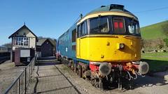 15-03-17 - BR Blue 33021 - Cheddleton (Lukas Gwynne) Tags: class 33 class33 33021 cheddleton cvr churnet valley railway br british rail blue signal box signalbox