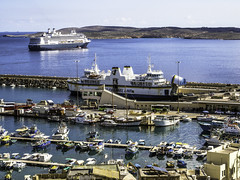 Mgarr, Malta has it all (Tony Tomlin) Tags: mgarr malta gozo ferry ferryport cruiseship hal hollandamerica