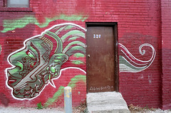 269 (Georgie_grrl) Tags: door friends streetart toronto ontario brick face wall graffiti expression burgundy photographers social tribal pentaxk1000 colourful outing 269 rikenon12828mm torontophotowalks topwbdg