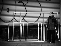 In The Frame (Feldore) Tags: street new york man green standing waiting side chinese east frame wait lower mchugh feldore