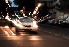 1,21 gigovatios! (Multimaniaco) Tags: madrid road sunset cars primavera atardecer lights luces spring carretera coches
