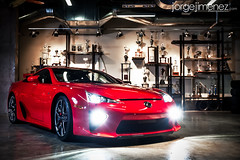 LFA 1 (--Jorge--) Tags: red costa costarica photoshoot garage rica toyota luxury supercar lfa lexus halogens nurburgring strobist