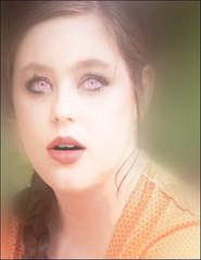Girl Becoming Woman (Cliff Michaels) Tags: portrait woman girl face photoshop eyes nikon lips lipstick braid d5000 pse9 photoplasticsurgery