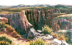 Morning Light on the East Rim No 1 - watercolor