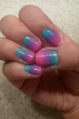 Day 159 (Angela-Marie) Tags: pink blue art mix purple nail ombre nails sponge