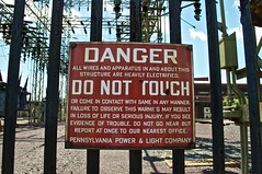 DANGER!  Do Not Touch! (bclinesmith) Tags: old city sign electric danger warning downtown pennsylvania pa ppl scranton nepa afsdxvrzoomnikkor1855mmf3556g