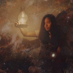Drawn to light (Yi Lin T (miniverse)) Tags: light selfportrait girl stars candle concept conceptual universe