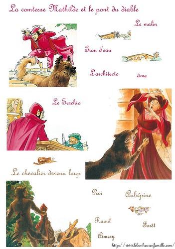 AAAAAAAAAAfiche la comtesse Mathilde et le pont du diable et quand le le chevlier devient loup
