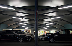 Going head to head (judith511) Tags: park awning lights shelter carpark odc