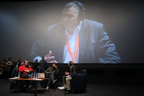 CEO Ken Hay joins DJ Simon Mayo and Film Critic Mark Kermode during the Radio 5 Live event at the Cineworld