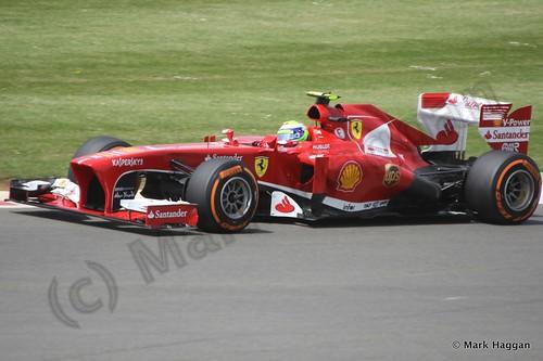 Felipe Massa in qualifying for the 2013 British Grand Prix