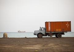 Truck On The Seaside, Massawa, Eritrea (Eric Lafforgue) Tags: africa horizontal truck outdoors redsea nobody nopeople copyspace massawa eritrea hornofafrica eritreo erytrea eritreia colourimage  massaoua ertra    eritre eritreja eritria  rythre africaorientaleitaliana     eritre eritrja  eritreya  erythraa erytreja     ert7041