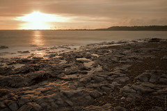 sunset at ogmore-by-the-sea (rich lewis) Tags: longexposure sunset sea seascape beach wales coast shoreline ogmore ogmorebythesea blinkagain