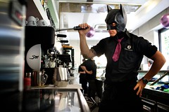 "164/365 - ""I'm Batman"" nr.14 - EXPLORED - Jul 26, 2013 #68 (Luca Rossini) Tags: portrait man guy coffee bar project blog sony machine espresso 365 serving imbatman rx1 365daysofrx1onecameraonelens12projects"