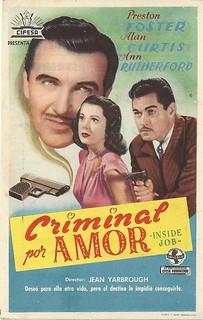From http://www.flickr.com/photos/97119674@N05/9540416336/: Criminal por amor