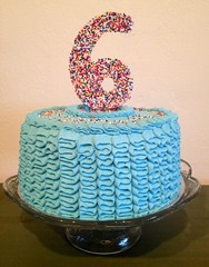 Buttercream Ribbon Cake by Elicia, Santa Cruz,CA, www.birthdaycakes4free.com