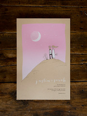 the invite. (benna) Tags: poster screenprint invite weddinginvitation kraftpaper davekloc justinhertner