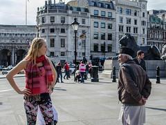 Poles apart (cuppyuppycake) Tags: london square trafalgar poles apart