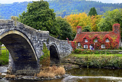 Llanrwst ..Beyond the Bridge Tea Rooms (Elaine 55.) Tags: bridge autumn river tearoom 1001nights conwy llanrwst impressedbeauty panoramafotográfico 1001nightsmagiccity flickrsfinestimages1 flickrsfinestimages2 flickrsfinestimages3 globalaward2014