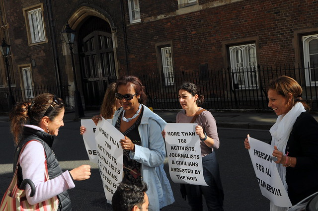 Thumbnail for Protest outside the Sudanese Embassy in London