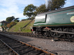 Manston - ready to go (DerekTP) Tags: pacific railway steam locomotive swanage manston bulleid 34070