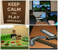 Minecraft party (taralees) Tags: library videogames owen homeschoolgroup letshaveaparty minecraft