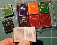 Miniature Books / Black Cat Press (typesticker) Tags: black shop cat print book miniature handmade books printing blau letterpress press bookbinding normanforgue pressbela