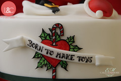 Born to make toys tattoo (Life & Cakes) Tags: santa christmas red wild white black green make hat cake tattoo toys born belt heart style holly lollipop topper tattooed