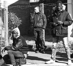 Street gang (Baz 120) Tags: life street city portrait people urban blackandwhite bw italy rome monochrome candid streetphotography streetportrait monotone streetphoto unposed 45mm decisivemoment candidportrait streetcandid mft streetphotograph primelens lunaphoto candidstreet thephotographyblog vision:outdoor=0912