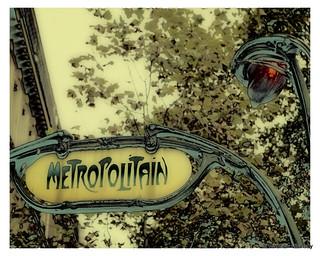 Metro sign - Paris