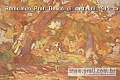 Romualdo Prati Bosco di castagni 1915 ca olio su cartone di