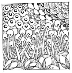 flowered square doodle (matteotarenghi) Tags: flower square drawing doodle letraset tarenghi