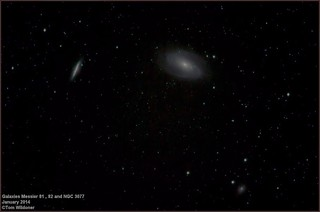 Galaxies Messier 81 M82 and NGC 3077